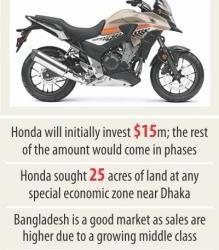 ホンダ、バイク工場へ投資か