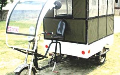 環境に優しい三輪自動車