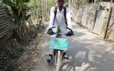 自転車に乗って夢の実現を