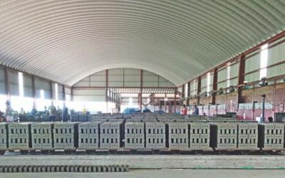 環境に優しいレンガ窯増加