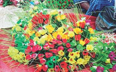 紙花が村を変える