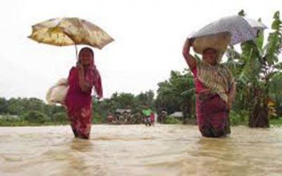 シレット、ホビゴンジで洪水