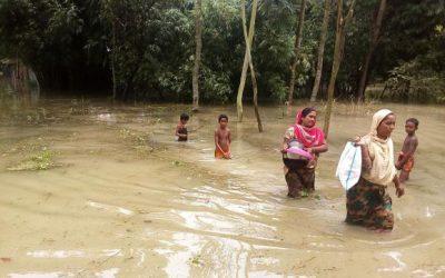 洪水、60万人の子どもに影響