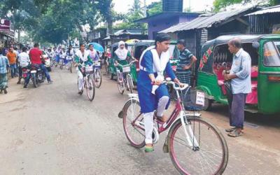 自転車で中退防止