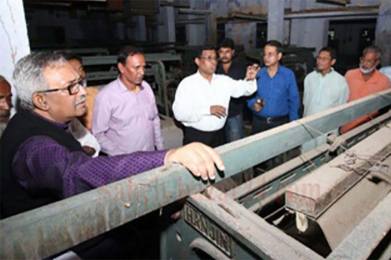 ラジシャヒの絹工場が再稼働