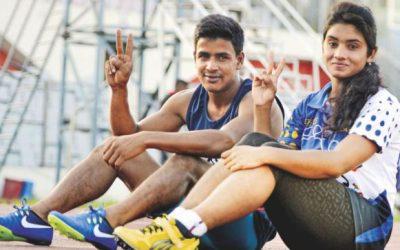 ラキブルとディシャが200メートル優勝