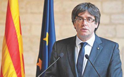 カタルーニャ指導者をベルギー警察逮捕
