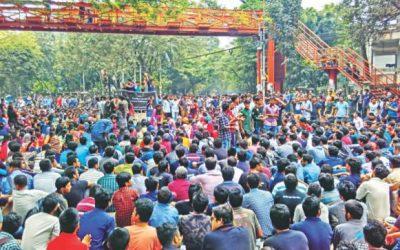 Buetの学生が道路封鎖