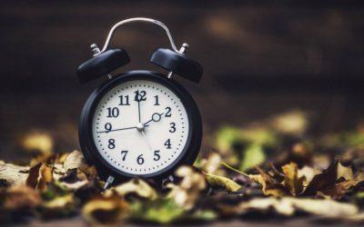 カレンダーの整理、時計の前進