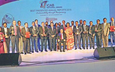 ICAB賞は、最高の年次報告書のために28