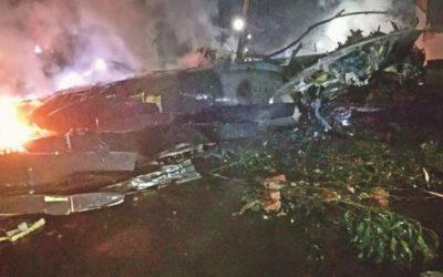 バングラ空軍機墜落