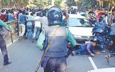 Aminul、28人がBNPと警官の衝突を取り返した