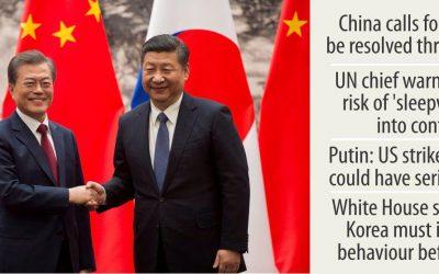 中国は北朝鮮戦争を許さない