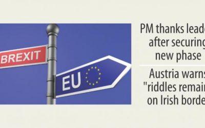 EUは次のBrexitフェーズを開く