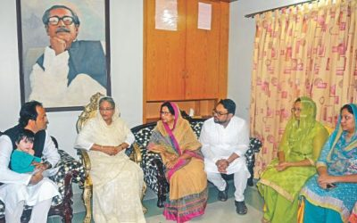 PMはMohiuddin Chyの住居を訪問する