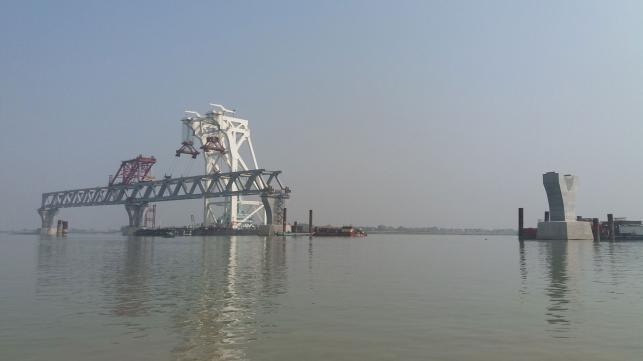 パドマ橋、第2スパンを設置