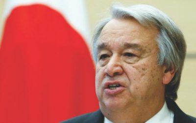 国連の主要問題は、2018年の統一のための「赤信号」