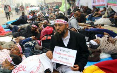 教師は飢えのストライキを続ける