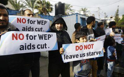 米国はパレスチナ難民のための資金を削減するため、国連は警鐘を鳴らす