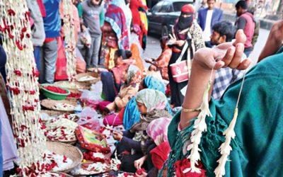 Shahbagの花屋の売り手