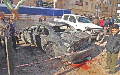 双子の爆撃がリビアで35人を殺す