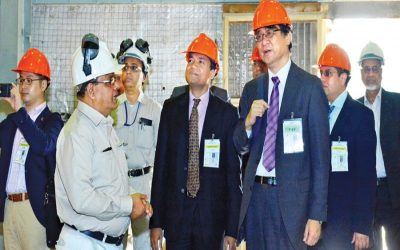 バングラデシュ駐日大使、泉弘康さんがランガディアのKAFCO工場訪問