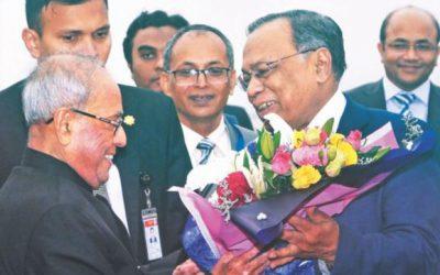 元インド大統領ダッカ訪問