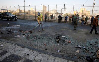 二人の自爆テロがバグダッドで35人を殺した