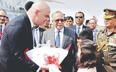 スイス大統領、初訪問