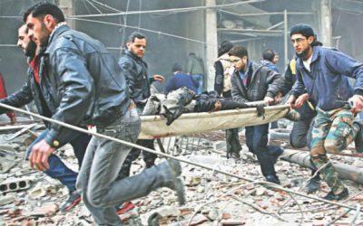 致命的な空襲がシリアを襲った