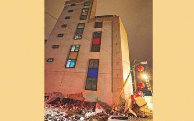 台湾で6.4規模の地震