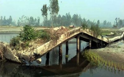 2年間倒れた橋