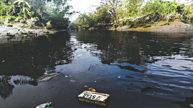 工場廃棄物がハルダを汚染する