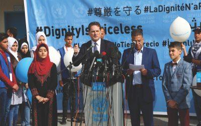 UNはUNRWAの立場である:アメリカは難民の校舎を閉鎖する