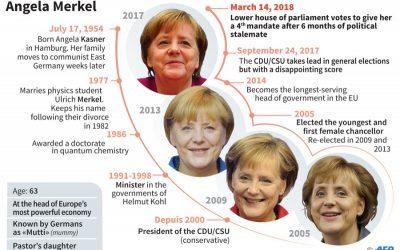 ドイツの議会、メルケル首相を第4期の首相と確定