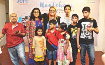 JCIダッカ・セントラルは、才能ある子供たちによるアート展を開催