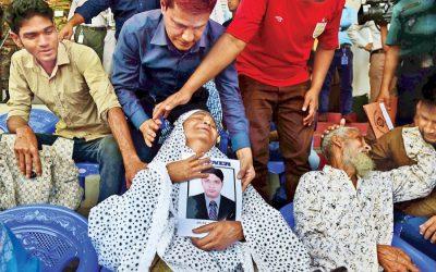 国家は埋葬の前に23のバングラディシュに敬意を表する