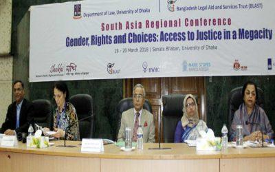「ジェンダー、権利、選択肢に関する南アジア地域会議:メガシティにおける公正へのアクセス」