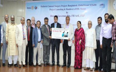 Ispahani Islamia Eye Institute、小児白内障手術プロジェクトを開始