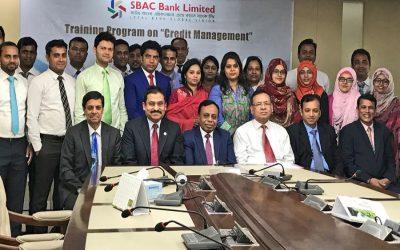 SBAC銀行の5日間の与信管理トレーニングプログラムの参加者