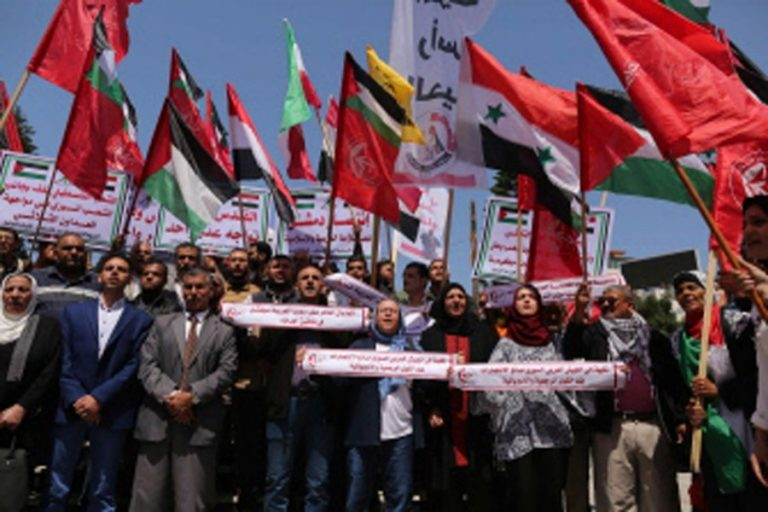 シリアでの米軍の抗議活動