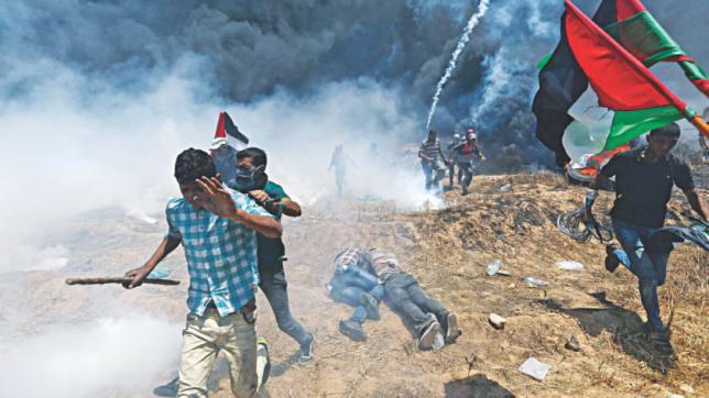 イスラエル軍、ガザで55人殺害