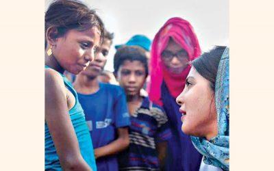 Priyanka ChopraはRohingyaの子供の悲惨な話を聞く