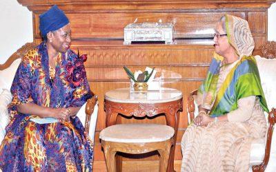 モンスーン災害からRohingyasを救うBhasanchar避難所は、PMを言う