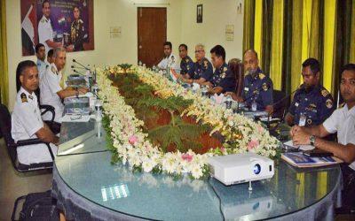 バングラデシュとインド沿岸警備隊の地方指揮官と二国間協議