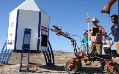 米国ユタ州で開催されたUniversity Rover Challenge(URC)2018にロボットが展示されています