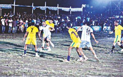 バングラデシュの農家の心のサッカー