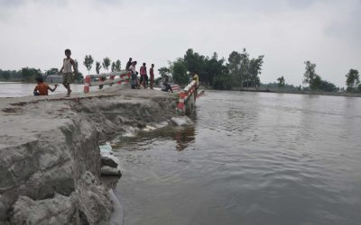 Teesta川の侵食