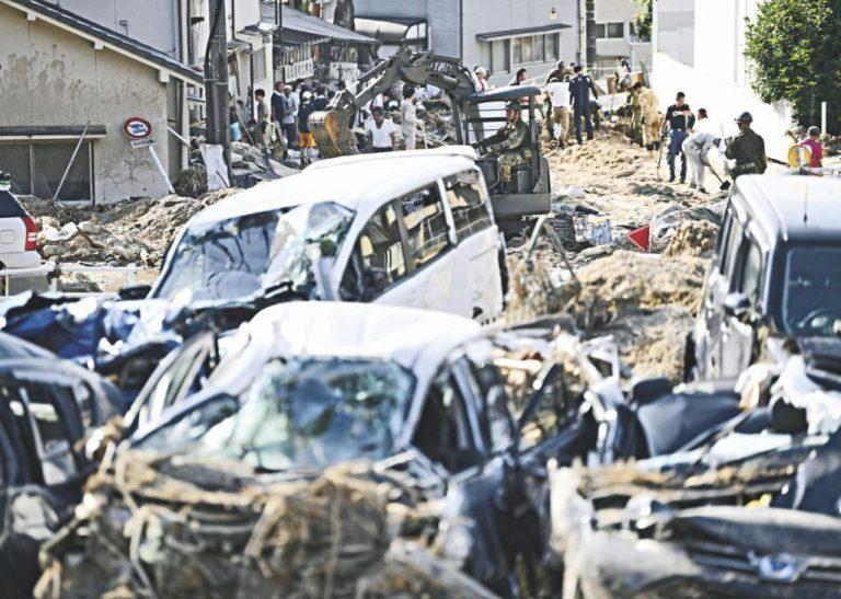 日本の洪水のヒット数156