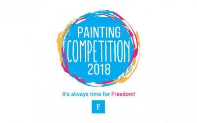 FNFは「いつも自由の時だ」というテーマで絵画コンペを開催します。